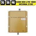 2G 3G 4G GSM WCDMA 900 2100 LTE 1800 Tri Band Mobile 65dB Ganho Reforço de Sinal de telefone Celular Amplificador Repetidor Celular 3G 4G
