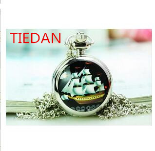 Кварцевые карманные часы, ожерелье, часы с красивым парусным рисунком