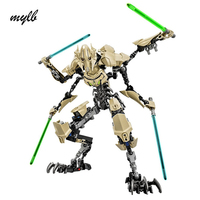 Mylb 183PCS Star Wars 7 General Grievous With Lightsaber Storm Trooper W Gun Figure Toys Building