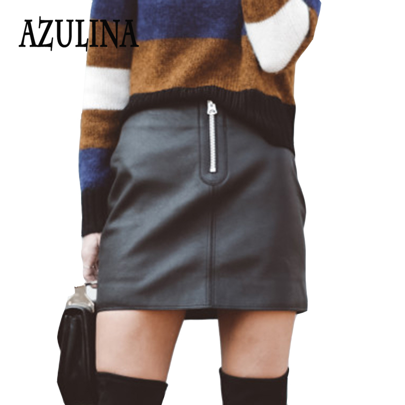 Popular Leather Mini Skirts for Women-Buy Cheap Leather Mini ...