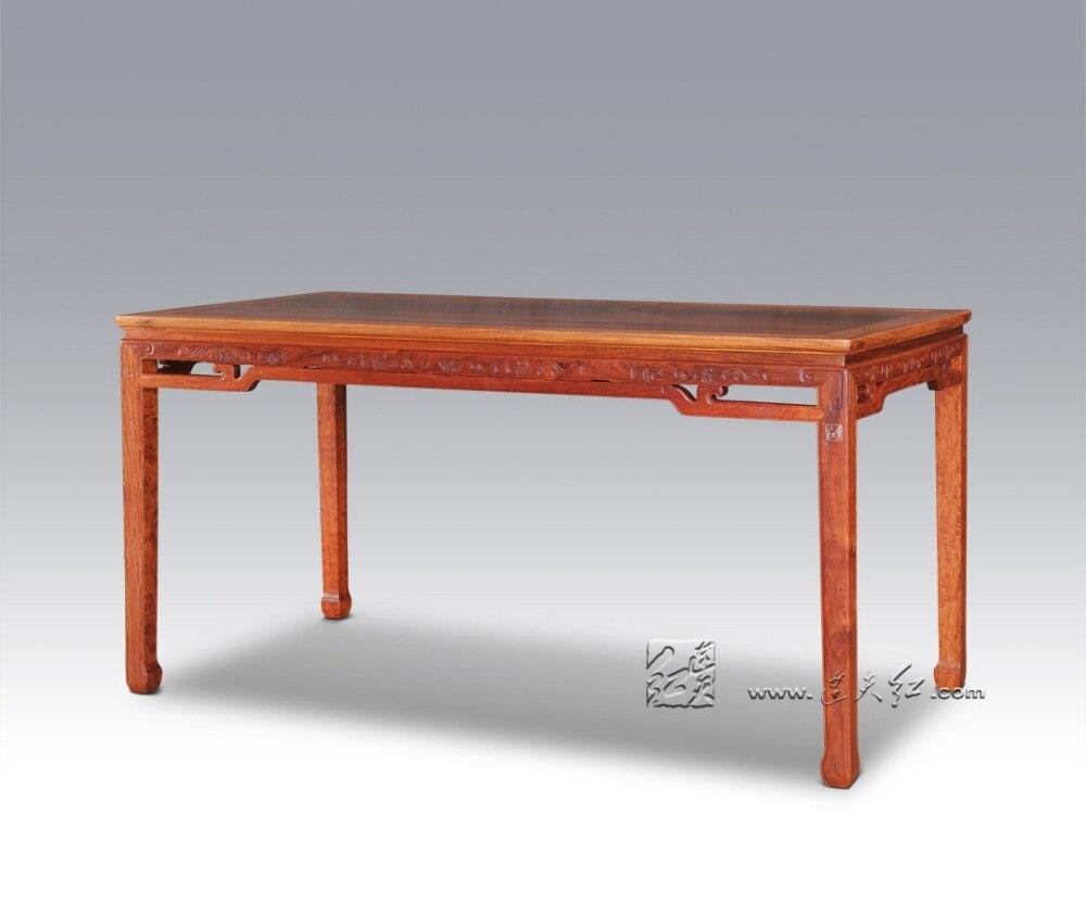 Ding tisch palisander 6 sitze rechteck lange borad wohnzimmer redwood schreibtisch klassischen chinesischen antike annatto möbel