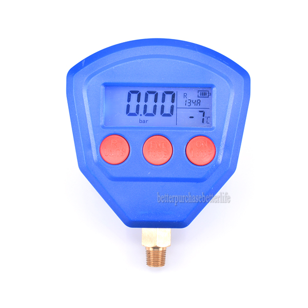 R22 R410 R407C R404A R134A Air Conditioner Refrigeration Vacuum Medical Equipment Battery-Powered Digital Pressure Gauge