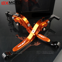 2017 Orange Color Motorcycle CNC Aluminum Adjustable Folding Extendable Brake Clutch Levers Fit For KTM Duke