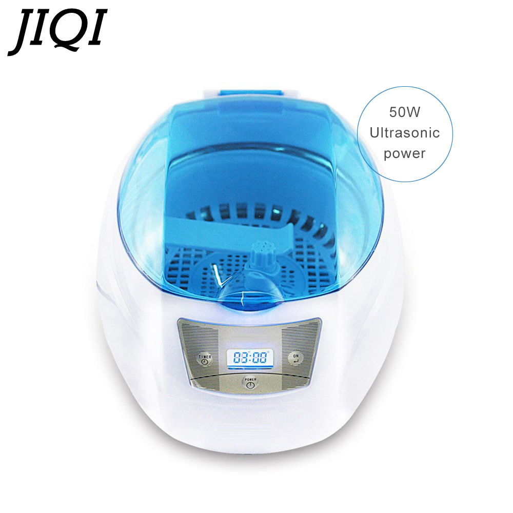 JIQI Ultrasonic Cleaner 50W 750mL Ultrasound Wave Washing Bath Tank 200-240V Watch Jewelry Glasses Cleaning Machine Sterilizer 220v 750ml ultrasonic cleaner ce 5200a 42000hz 50w household washing and cleaning device jewelry watch and glasses