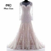 2018 Wedding Dresses Real Made Sexy Mermaid Trumpet Dresses For Wedding with Lace Robe de mariage vestido de noiva Bridal Gowns