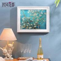Высококачественный гидравлические метр, раздвижные окна, гостиная, распределительная коробка, декоративные коробки, висит картина, Ван Гог
