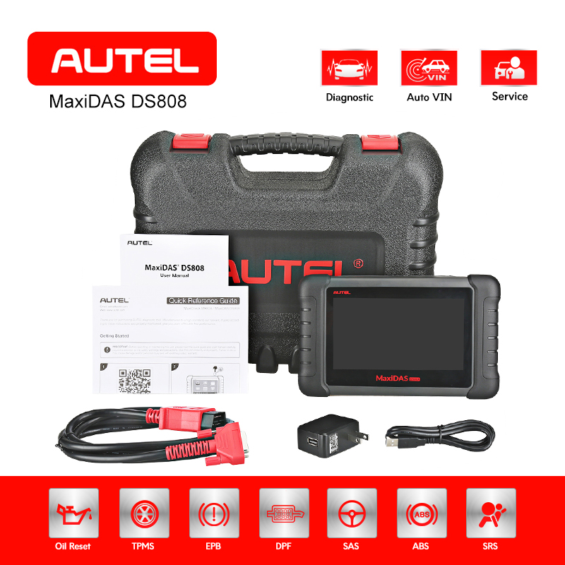 AUTEL MAXIDAS DS808 OBD2 Scanner Diagnostic Tool Automotive ECU Coding Tester EOBD OE-level Key Programmer Code Reader