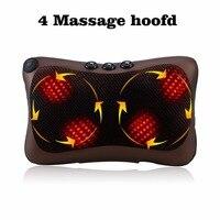 Electric Infrared Heating Kneading Neck Shoulder Back Waist Body Spa Massage Pillow Car Chair Shiatsu Massager