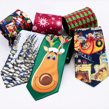 RBOCOTT Novelty Christmas Ties Santa Claus Snowflake Necktie Good Quality Printed Neck Ties 9cm Red Green For Festival Gift(China)