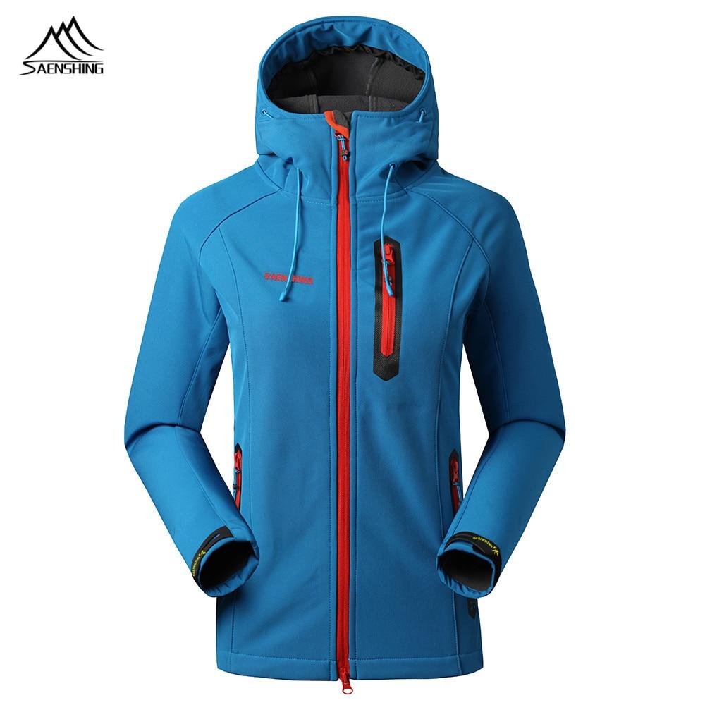2016 Marka balıkçılık Trekking Geçirimsiz Mujer için Softshell Ceket kadın Açık Ceket Rüzgar Geçirmez Softshell Avcılık Giyim