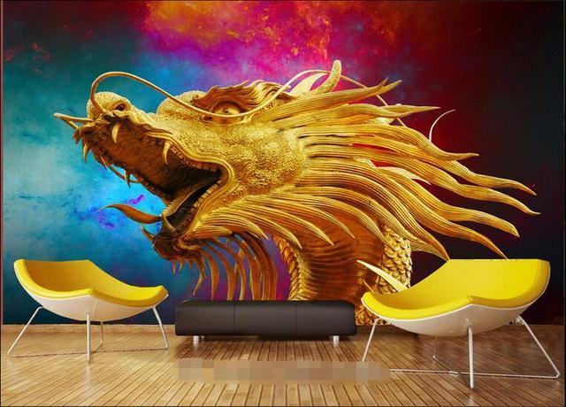 Parete Doro : 3d wallpaper personalizzato non tessuto autoadesivo della parete 3d