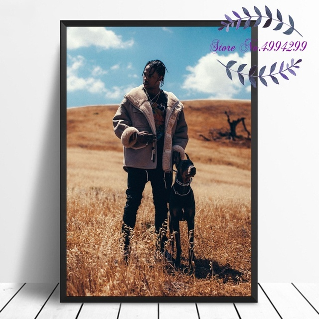 Travis Scott Music Star Art Silk Poster Room Wall Decor No Frame