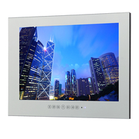 Souria 15 6inch Magic Mirror Water Resistant Interior Shower Wall Mounting LED Bathroom Waterproof TV