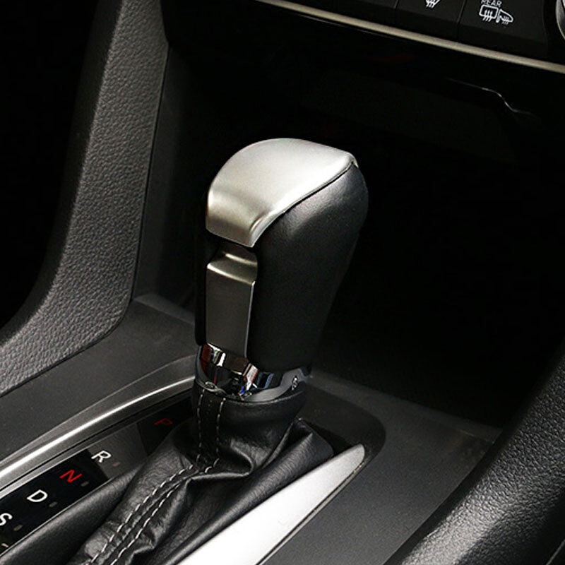 ABS Plastic car styling For Honda Civic 10th Accessories 2016 2017 Car gear shift knob handle cover trim