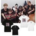 Kpop Bangtan niños Album Cover Mismas Letras Impresión de la Camiseta Del Verano ventiladores O Cuello Manga Corta Bts Camiseta k-pop Camiseta k pop tees