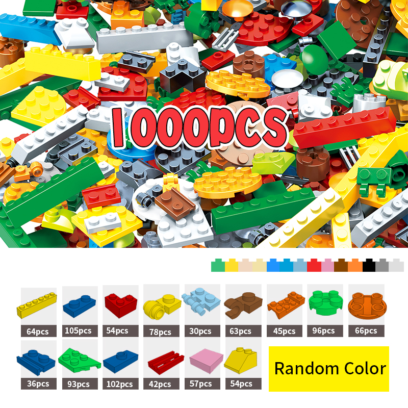 More Shapes DIY Bricks 1000 Pcs Building Blocks Creative Toys For Child Educational Block Bulk Compatible With Major Brand 1000 pcs diy creative brick toys for child educational building block sets bulk bricks compatible with major brand blocks