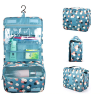 Portable Hanging Toiletry Kit Clear Wash Travel Bag Women Organizer Pouch Cosmetic Carry Case With Hook