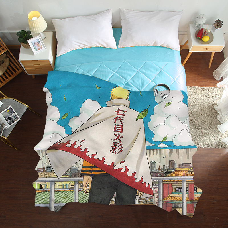 Summer Cool Tencel Single Quilt Cover Cartoon Anime Bedding Set Air Conditioner Naruto Silky And Comfortable Duvet Covers
