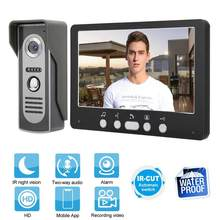 7in TFT Camera Monitoren Video Deurbel Intercom Night View Systeem 815m11 110-240V Home Security Kit Zwart(China)