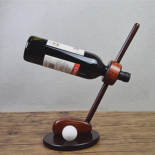 Kreatywny proste stojaki na wino z litego drewna osobowości retro ręcznie uchwyt na butelkę domu salon akcesoria do szafek w Stojaki na wino od Dom i ogród na AliExpress - 11.11_Double 11Singles' Day 1