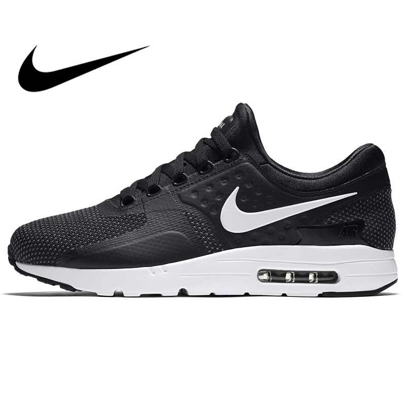 more photos 701a2 b7054 Original NIKE AIR MAX ZERO ESSENTIAL Men s Running Shoes New Outdoor Sports  Comfortable Cushioning Sneakers Wear