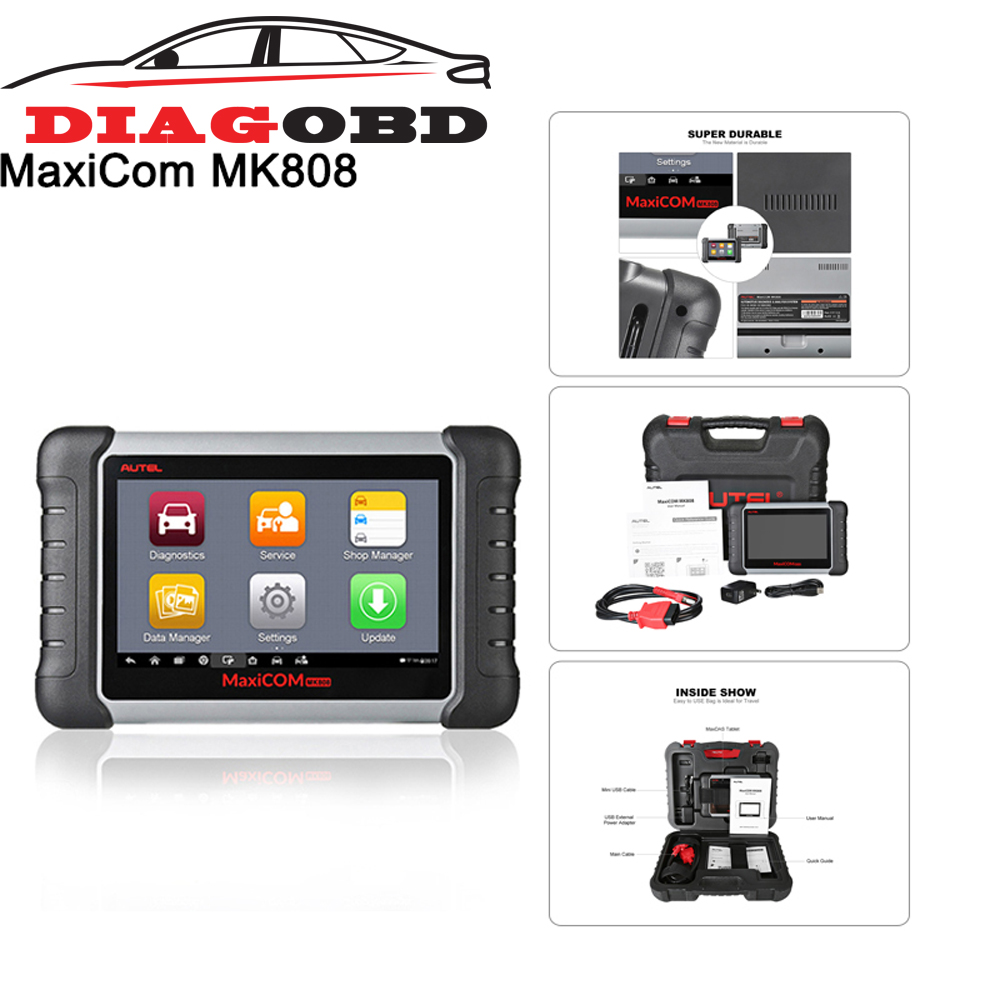 Autel Original MaxiCOM MK808 Diagnostic Tool 7-inch LCD Touch Screen Swift Diagnosis Functions of EPB/DPF/SAS//IMMOTMPS and More