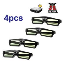 Darmowa wysyłka! 4szt Lots okulary 3D aktywna migawka wielokrotnego ładowania dla BenQ W1070 Optoma GT750e DLP 3D EMITTER okulary projekcyjne tanie tanio Migawki Brak Wciągające Tylko okulary Lornetki Z ENMESI W pakiecie 1 KX-30 W Aktywne okulary migawkowe Łącze DLP Projektor 3D DLP-link