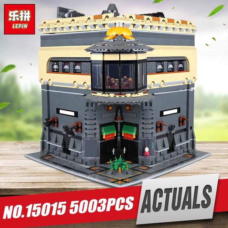 цены на New LEPIN 15015 5003pcs Genuine City The dinosaur museum Model Educational Building Kits Brick Fuuny Toy Compatible Toys Gift в интернет-магазинах