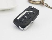 3 Кнопки Флип Складные Дистанционного Ключа Для Toyota Land Cruiser Prado 433 МГц С 4D67 Чип Автосигнализации Fob (до 2013 года)