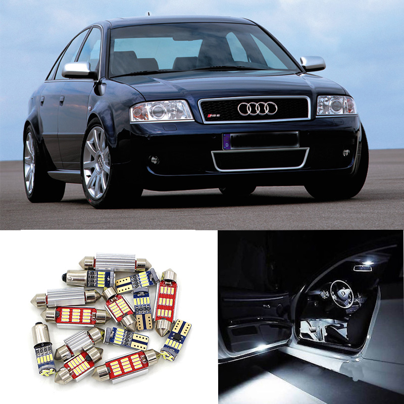 21pcs Super Bright Canbus Car White LED Light Bulbs Interior Package Kit For 1999-2004 Audi A6 C5 Map Dome Glove Box Lamp 2pcs 12v 31mm 36mm 39mm 41mm canbus led auto festoon light error free interior doom lamp car styling for volvo bmw audi benz