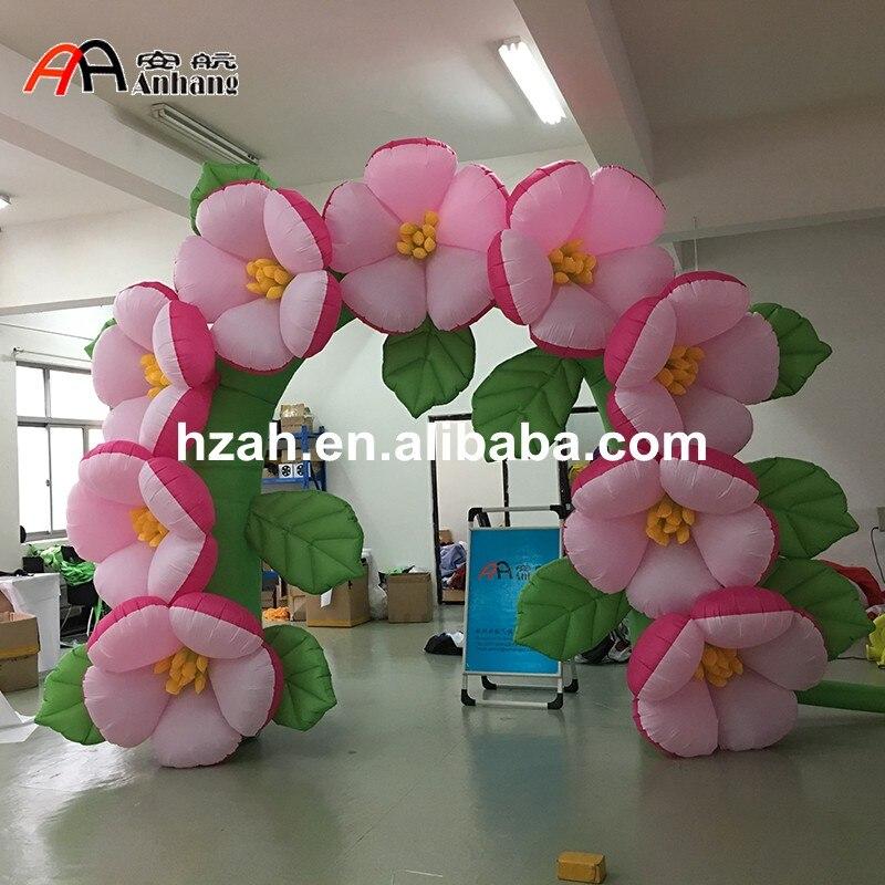 Новый дизайн свадебных надувной цветок арки с листьями