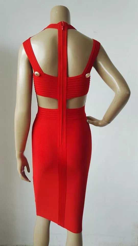 Сексуальное черное красное повязное платье с дырочками, женские платья, уникальные платья без рукавов, Вечерние Платья До Колена, клубная одежда