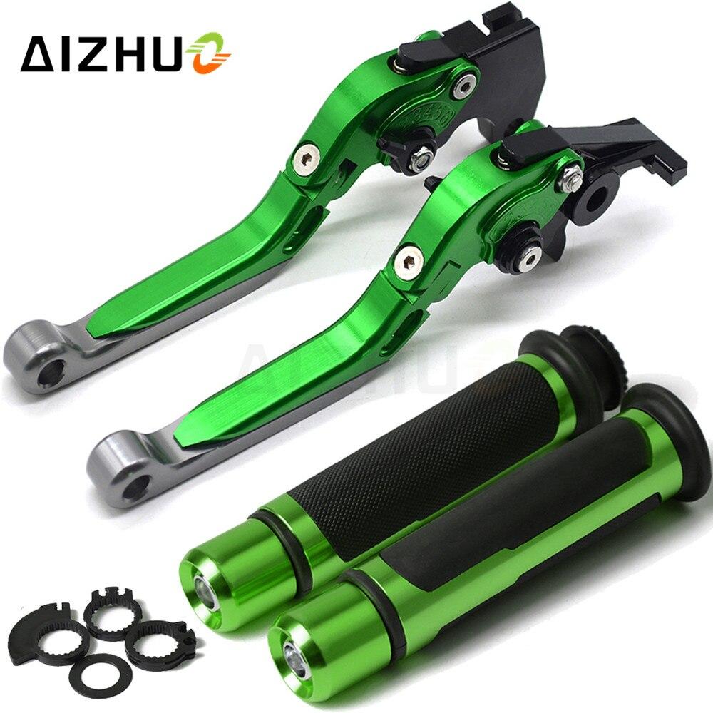 Motorcycle Brake Clutch Lever Adjustable Handle Grips For KAWASAKI NINJA 650R ER6F ER6N ER 6F 6N