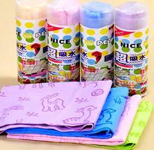 Cartoon Printed Dog Towel Quickly Dry Absorbent Microfiber Bath Pet Cat Bathrobe Cute Suede Material Hair