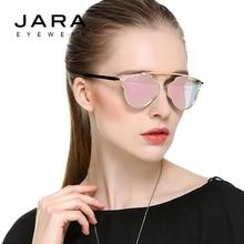 JARA Fashion Alloy Mirror Women Retro Polarized Sunglasses Female Hollow Steampunk Designer Metal Frame UV400 Sun Glasses J0868