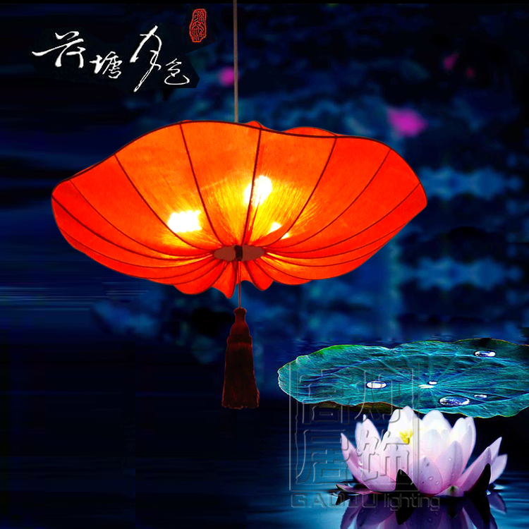 Special offer! Modern Chinese marine cloth Pendant New Classical creative Lotus Hotel Restaurant chandelier lamp