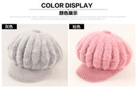 Rabbit Fur Hat Autumn And Winter Korean Version Of The Tide Fashion Cap Thick Warm Wool