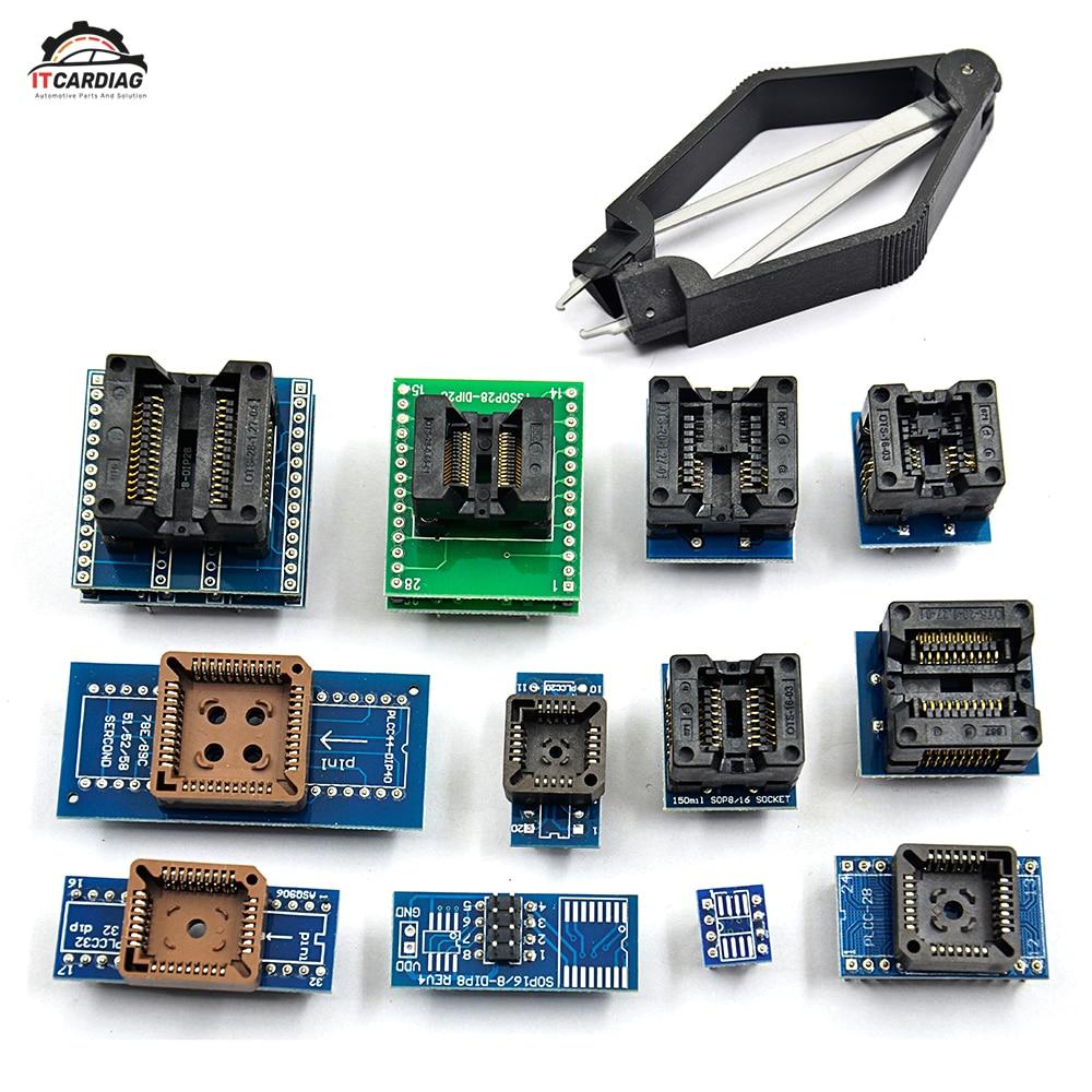 13 PCS Universal Adapter Socket+ IC Extractor for Programmer TL866A TL866CS EZP2010 G540 Free ship