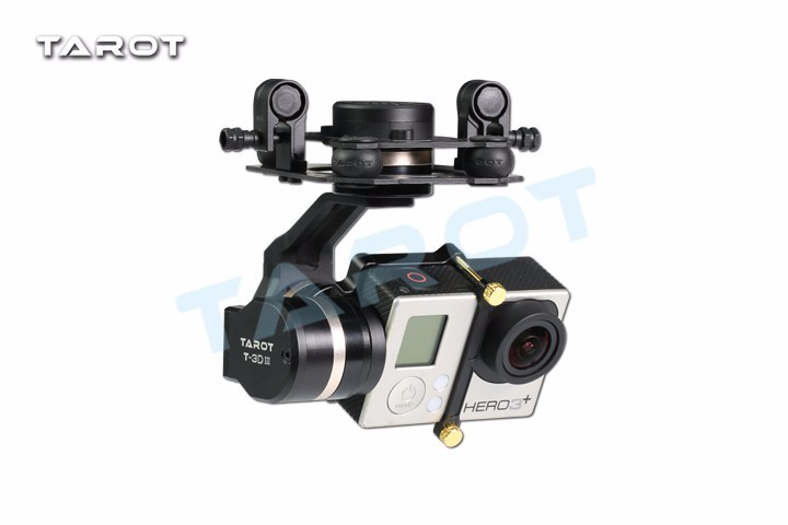 Tarot TL3T01 Update FPV T4-3D 3D Metal CNC 3-axis Brushless Gimbal for GOPRO GOPRO4/GOpro3+/Gopro3 FPV Photography tarot gopro 3dⅢ metal cnc 3 axis brushless gimbal ptz for gopro 4 3 3 fpv quadcopter tl3t01