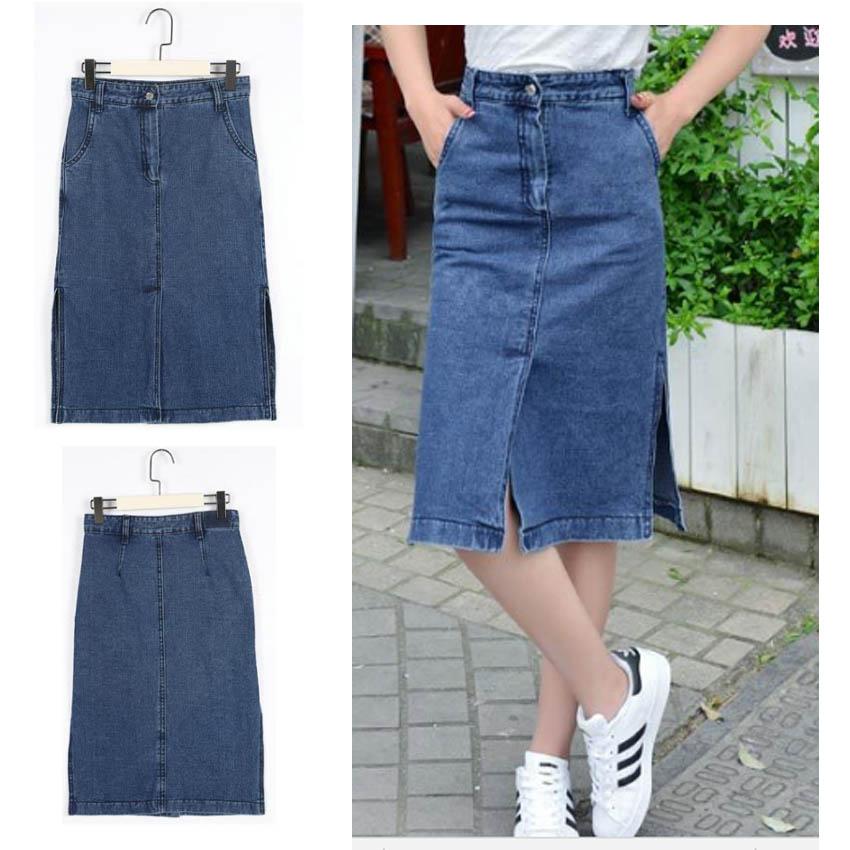 Popular Blue Jean Skirts for Girls-Buy Cheap Blue Jean Skirts for ...