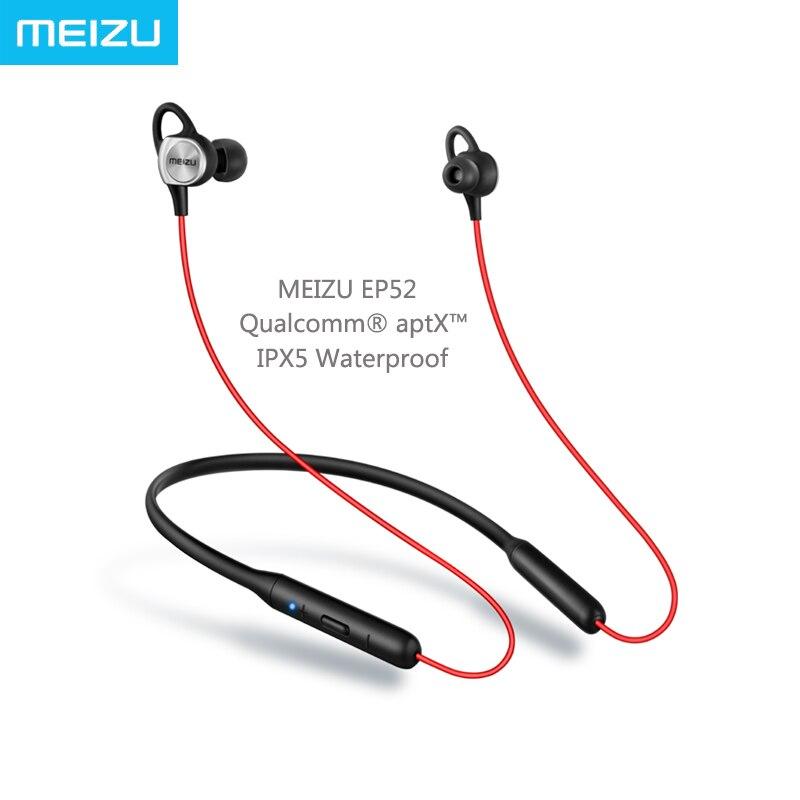 Meizu EP52 IPX5 Qualcomm Chip de Áudio aptX Auscultadores Do Esporte Bluetooth 4.1 Sem Fio à prova d' água com MICROFONE para Huawei Xiaomi iPhone