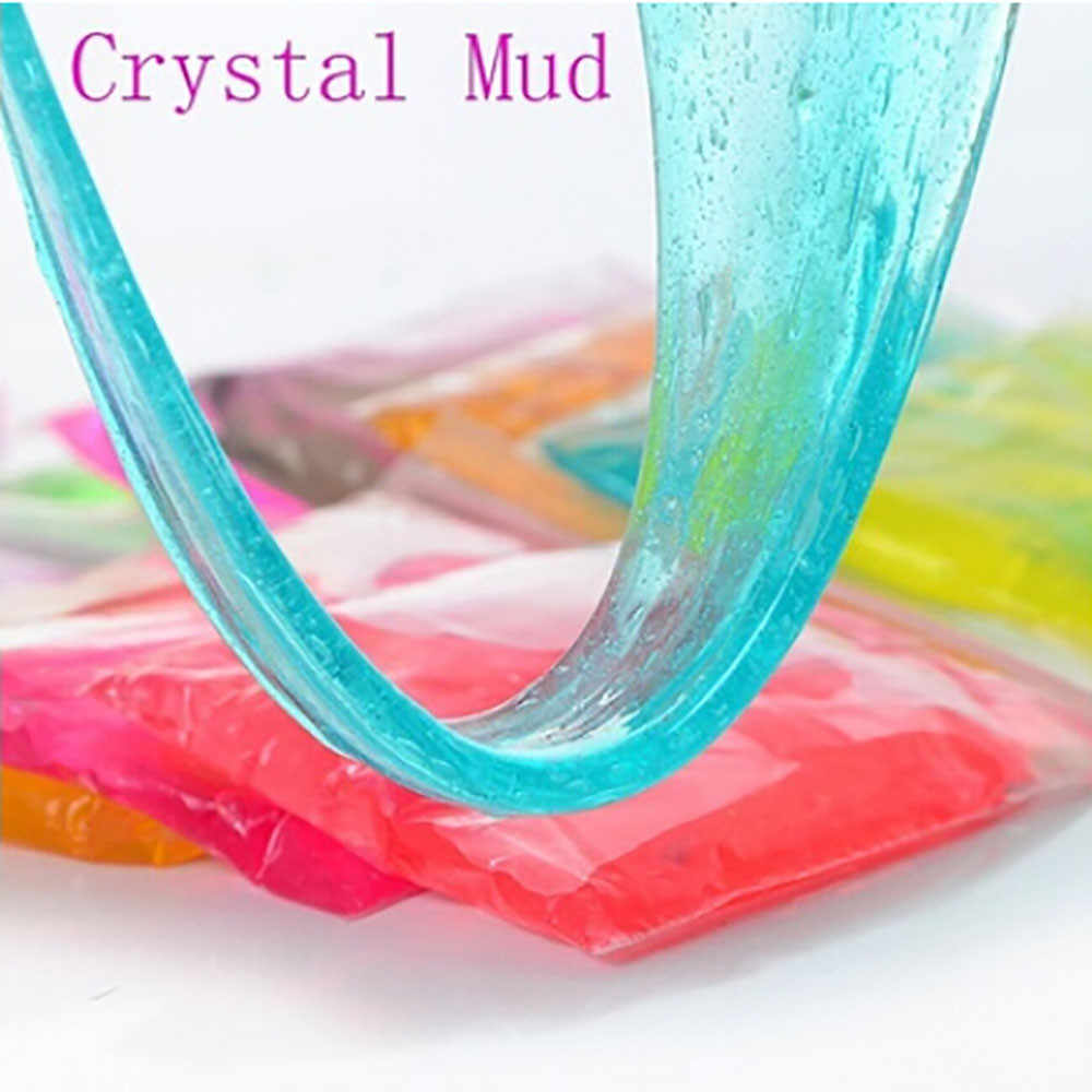 Clay Slime DIY Crystal Mud Play Transparent Magic Plasticine Kid Toys funny gift games for kids interesting toys Dropshipp#F20