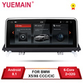 YUEMAIN Android 8.1 Auto Dvd-speler voor BMW X5 E70/X6 E71 (2007-2013) CCC/CIC Systeem Unit PC Android Navigatie Multimedia IPS