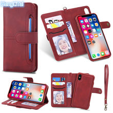 2 In 1 Magnetic Dilepas Kulit Flip Dompet Retro Ultra Slim Case untuk iPhone 11pro Max X XR Xsmax 8 7 6 6S PLUS 5S SE(China)
