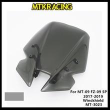 MTKRACING Windscreens  For YAMAHA MT09 FZ09 MT-09 SP FZ-09  2017 2018 2019  Wind Deflectors Windshield Windscreens MT-3023 2018 windshield pare brise for yamaha mt 09 mt09 mt 09 fz09 fz 09 2017 2019 motorcycle accessories windscreens wind deflectors