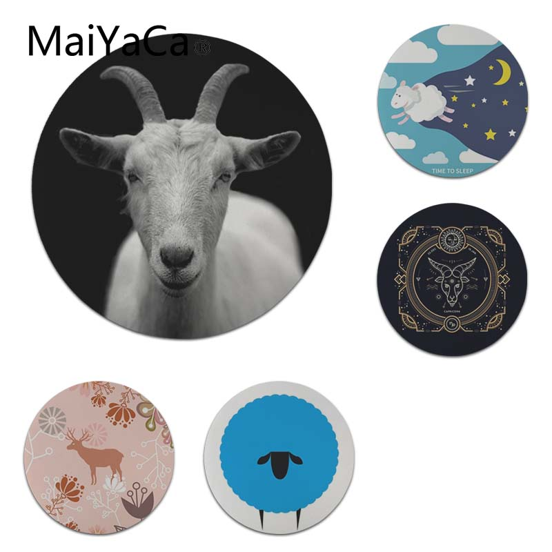 MaiYaCa Sheep Time to Sleep Keyboard Gaming MousePads Size for 22X22cm Round Gaming Mousepads