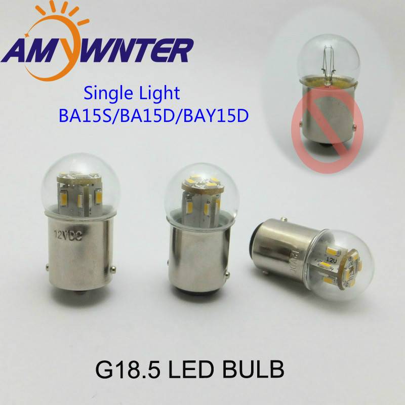Mini bulb 24 36 48V Motorcycle lamp G18 6V led Equipment Signal indicator lamp Auto Light Source Turn Signal Rear Bulb Lamp