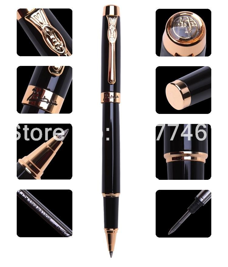 Picasso red roller pen picasso PPC933a pure black gift ball pen pimio gold Ballpoint Pen 1pc lot picasso roller ball pen 902 pimio picasso ball pens engraving gold pen gold clip luxury school supplies 13 6 1 3cm