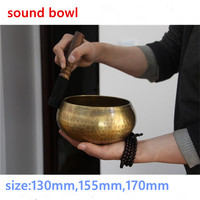 Diameter 13cm 15.5cm,17cm Buddhism Copper Buddha Sound Bowl Yoga Bowl Meditation Nepal's Manual Bowl