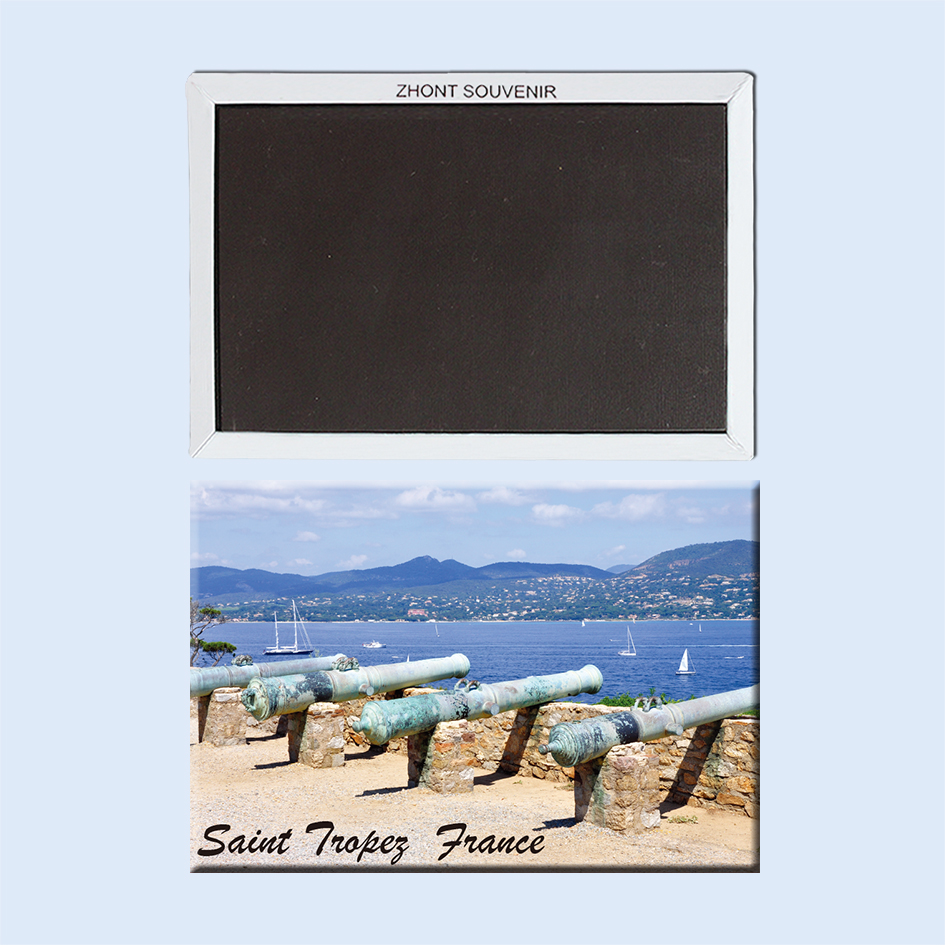 the seafront in the resort of saint Tropez France 22640 Landscape Magnetic refrigerator gifts for friends Travel souvenirs